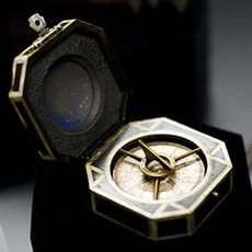 """Hero compass prop used in """"Pirates of the Caribbean""""."""
