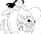 Color with Lilo and Stitch!