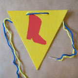 <i>Toy Story</i> Party Pennant Step 5
