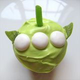 Toy Story Green Alien Cupcakes Step 3