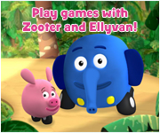 Play games with Zooter and Ellyvan