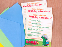 Babar Party Invitations