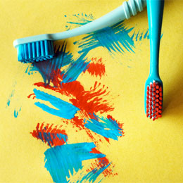 Timothy's Toothbrush Painting