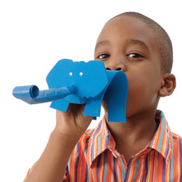 Trumpeting Elephant Party Blowers