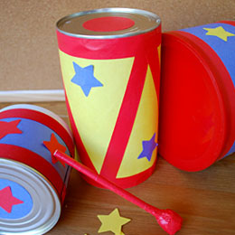 Imagination Movers Recycled Drum Kit