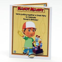 Handy Manny Birthday Party Invitations