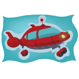 Little Einsteins Party Decoration: Rocket