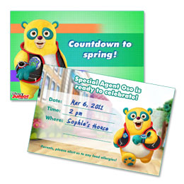 Special Agent Oso Spring Party Invitation