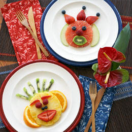 Zephir's Monkey Face Fruit Plates