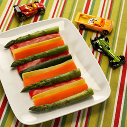 Lightning McQueen's Racing Stripe Veggies