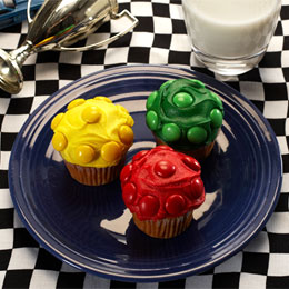 Radiator Springs Stoplight Cupcakes