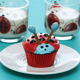 Shutterbug's Ladybug Red Velvet Cupcakes