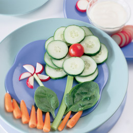 Springtime Veggie Flowers with Ranch Dip