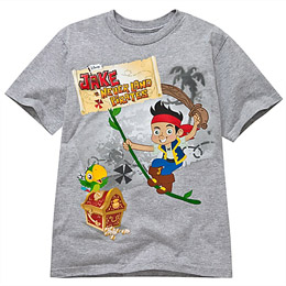 Gray Jake and the Never Land Pirates Tee
