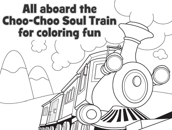 Choo Choo Soul Coloring and Create