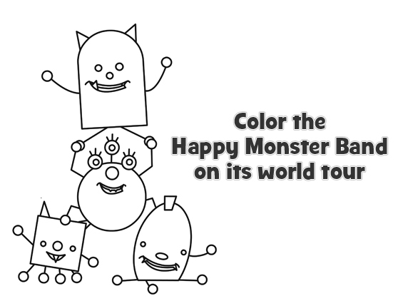 Color with the Happy Monster Band!