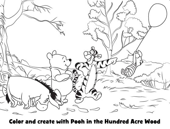 Color with Winnie the Pooh!