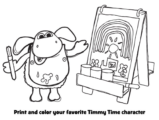 It's coloring time with Timmy!