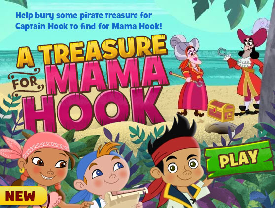 Help bury some pirate treasure for Captain Hook to find for Mama Hook!