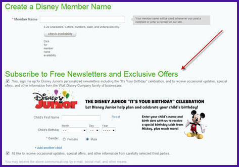 Create a Disney account