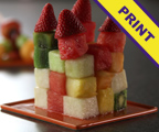 Fruit Cube and Kebabs