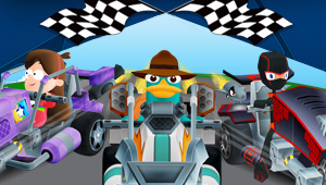 Pick your favorite character and burn rubber on your iOS device.