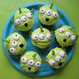 <i>Toy Story</i>  Green Alien Cupcakes